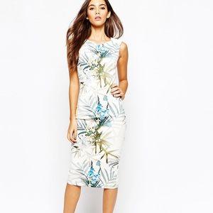 Ted baker Loua twilight floral dress size 0 xsmall